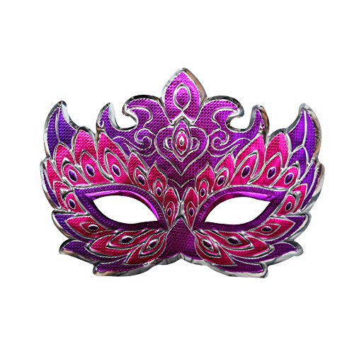 (PromMask Masken Gesichtsmaske Gesichtsschutz Domino falsche Front Halloween Make-up Abschlussball männliche Maske Party Kinder Maske Eule)