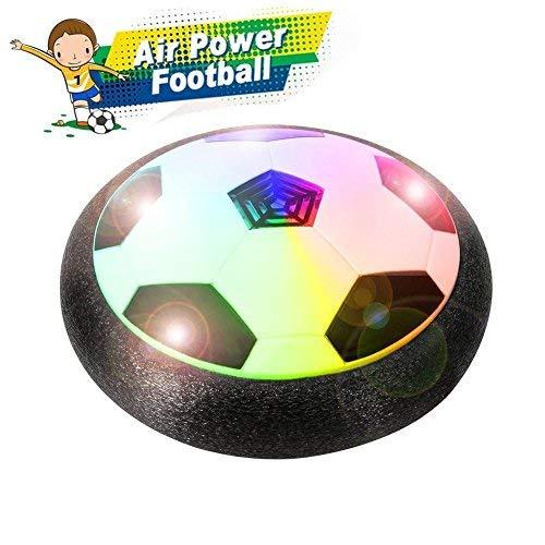 Air Power Fußball Fussball Hover Ball Leistungsstarke LED-Licht und Schaum Stoßstangen für Indoor Outdoor-Spiele, Spielzeug für Kinder Jungen und Mädchen Geschenke