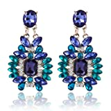 Bling N Beads Danglers Blue Partywear Ea...