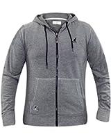 New Mens Kangol Designer Hoodie Full Zipper Branded Heavy Pique Lined Hood Top