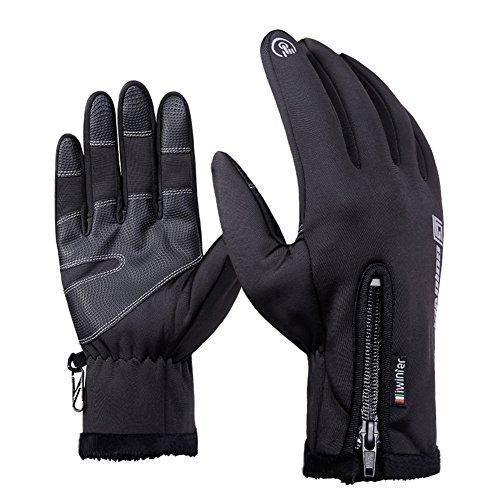 Goodbuy Touchscreen Fahrradhandschuhe Herren, Doppelschicht Wasserabweisend Winter Handschuhe für Motorrad Snowboard Ski (XL)