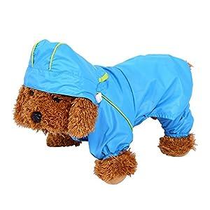 Manteau Imperméable Veste De Pluie Étanche 6 Tailles Avec Capuche Protection Vêtements Pour Chien Chiot Animal ( Taille : L )