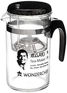 Wonderchef Misaki Glass Tea Maker, 8cm, 300 ml