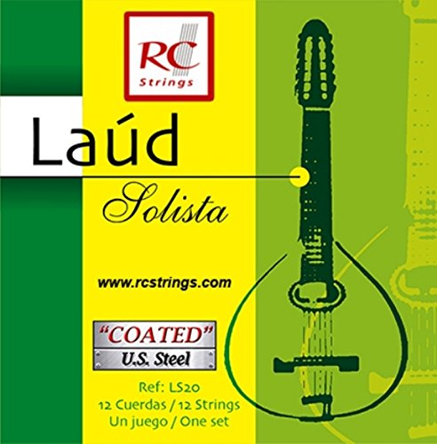 Royal Classsics LS20 - Cuerdas para laúd, botones plateados