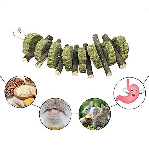 Zahnknirschen Spielzeug Haustier Kauen Spielzeug Hamster Kauen Stick Kaninchen Zähne Spielzeug Bio Apple Holzstäbchen Zahnreinigung Geeignet für Kaninchen, Chinchilla, Hamster Kleintiere -