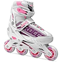 Roces Jokey, Pattino in Linea Bambina, White/Purple/Pink, 38-41