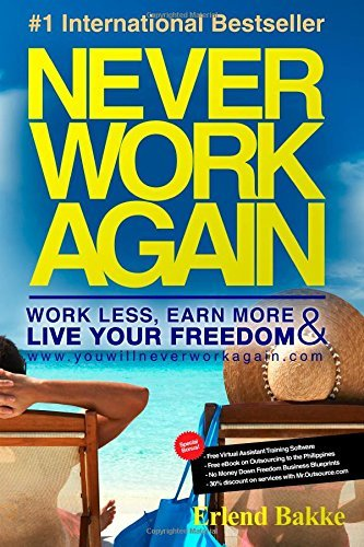 By Erlend Bakke Never Work Again: Work Less, Earn More, and Live Your Freedom (2nd Edition) [Paperback]