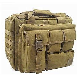 """jomotala Hombres de hombro bolsas mochila Molle al aire libre deporte mochila 15""""portátil cámara mochila Militar táctica bolsa de ordenador, arena"""