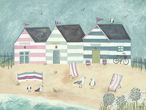 Louise O 'Hara ein Sonntagnachmittag Bike Ride 60x 80cm Leinwand Prints, Mehrfarbig Louise Hut
