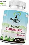 Organic Turmeric Capsules with BioPerine Black Pepper Extract - High Strength 750mg Turmeric Curcumin Root with Anti Inflammatory and Antioxidant Properties by TheHealthyTree Company from TheHealthyTree Company