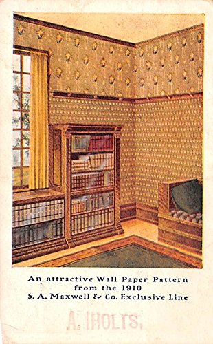 Paint & Wallpaper Advertising Old Vintage Antique Post Card SA Maxwell & Co Exclusive Line Writing on back -