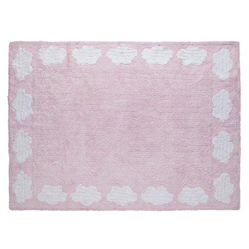 PROMOCIÓN - Mat 120x160 cm Niños Pink Nubes Blancas