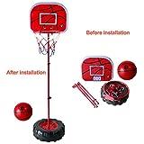Basketball Ständer Höhenverstellbar Basketballkorb mit Netz Ball und Pumpe fürKinder ab 6 Jahren