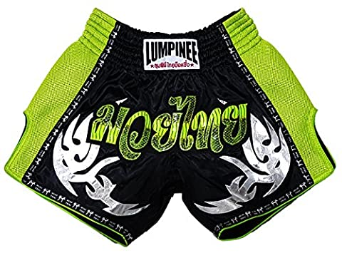Lumpinee rétro Muay Thai Fight Kick boxing Short XL Green Viper