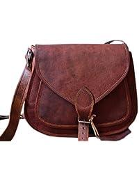 ECHO Women's Leather Purse Gypsy Bag Crossbody Women Handbag Shoulder Travel Satchel Tote Bag 14x10x4 Inches Brown...