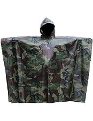 Aodoor Impermeable De Camuflaje, Poncho Camouflage, Ponchos impermeables, para Caza pesca, senderismo y acampada Chubasquero unisex