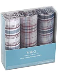 YEA02 Pretty Gifts 3 Pack Mens Cotton Handkerchiefs Excellent Fashion By Y&G