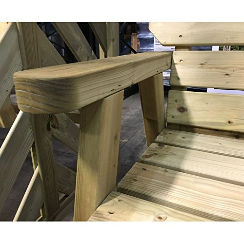 Exmouth 2 Seater Wooden Garden Bench 4ft Pressure Treated Outdoor Furniture