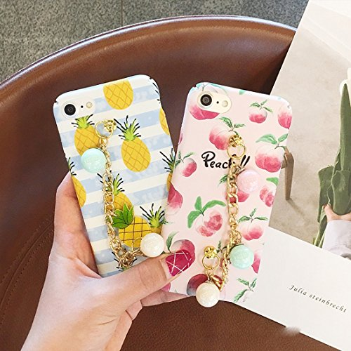 Phone Case & Hülle Für iPhone 6 Plus & 6s Plus Sommer Obst Muster Acryl Schutzhülle mit Kette ( SKU : Ip6p2278c ) Ip6p2278a
