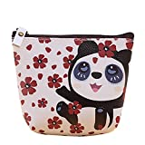 Hacoly Animal de Dessin Animé Porte-Monnaie Étanche Mignon Coin Porte-Clés Bourse pour Rouge à Lèvres, Pièces, Carte de Crédit et Clés-Motif Panda