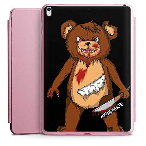 DeinDesign Smart Case rosa kompatibel mit Apple iPad Pro 12.9 (2017) Hülle mit Ständer Schutzhülle Halloween Horror Mythenakte (Film Halloween Pro Horror Ohne)