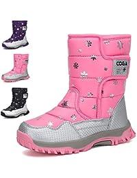 Stivali da Neve Bambini Ragazza Inverno Stivaletti Pelliccia Boots  Impermeabile Stivali f3857130c5a