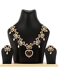 Kpax Fashions Golden Color Alloy Necklace Set For Women,KPX34