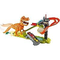 Mattel Hot Wheels T-Rex Takedown - Pista para coches con tiranosaurio