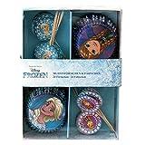 P:OS 24 Muffin Pirottini Carta e Bandiere | Disney Frozen | Decorazione Cottura