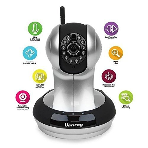(Fujikam) Vimtag 361 HD, IP/Network, Wireless, video monitoring, surveillance, security camera, Plug/play, pan/tilt with two-way audio and night vision