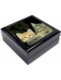 Kittens in Beer Barrel Keepsake/Jewellery Box Christmas Gift