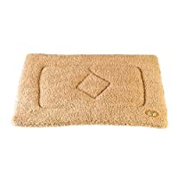 Gor Pets Washabe Sherpa Cage Mat for Dog Cat Crate, 61 x 91 cm, Beige