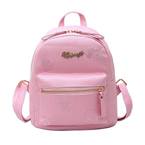 02d6f337a3cc7 LILICAT Mädchen Rucksack Schultasche PU Leder Casual Teenager Unisex Kinder  School Bag Shoulder Book Bags Erwachsene Damen Herren ...