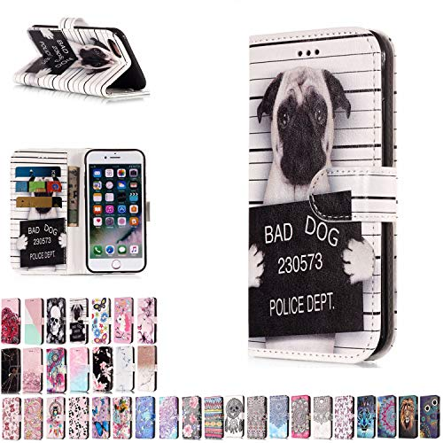 LA-Otterkompatibel mit Samsung Galaxy S8 Hülle Leder H&e Muster Tasche Lederhülle handyhüllen Etui mit Kartenfach Schutzhülle Flip Case Ledertasche Klapphülle Handytasche