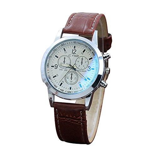Armbanduhren männer Herrenuhr mit Datum Funktion Herren Gürtel-Sport-Quarz-Stunden-Armbanduhr Armbanduhr Uhren Armbanduhren Herrenarmbanduh Mehrfarbig