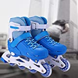 Inline Skates/Rollschuhe Kinder verstellbare Rollschuhe Mädchen Mesh atmungsaktive Inliner Kinder für Jungen/Mädchen/Jugendliche