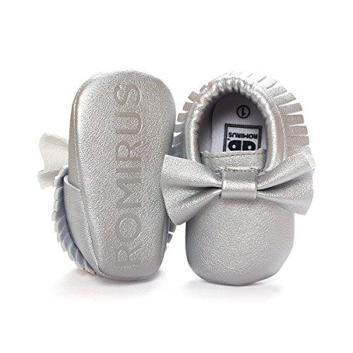 Krabbelschuhe 18 Mädchen Baby Laufternshuhe Für Süß Neugeborenen Silver 0 Nicetage Monate Schuhe 6UqHIRxR