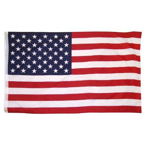 US Flag poliestere stampata - 3x5ft con occhielli