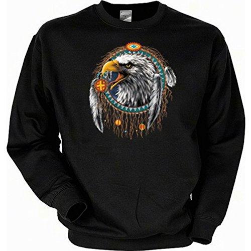 aumfänger Indian Eagle Sweatshirt Gr M in schwarz (Biker Halloween Kostüme Für Hunde)