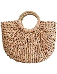 96320cf5b21a0 Tonpot 1 PCS Beach Bag Damen Stroh Sommer Handtasche für Strand Reisen und  Den täglichen Gebrauch