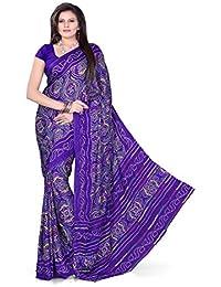Aaradhya Fashion Crepe Saree (Afmoss 0120_Blue)