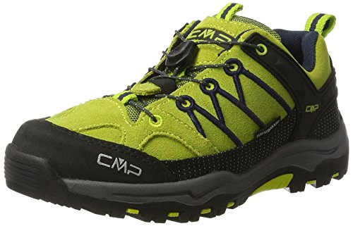 CMP Unisex-Kinder Rigel Low Wp-3Q13244 Trekking-& Wanderschuhe, Grün (Lime Green-Graffite), 34 EU