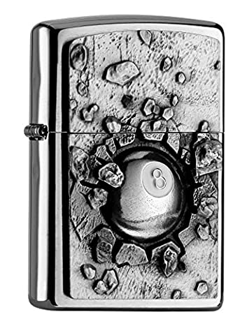 Zippo 2004738 Sturmfeuerzeug BILLARD-DESIGN BLACK 8 BALL
