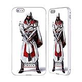 Head Case Designs Offizielle Assassin's Creed Ezio Voller Koerper Kunstwerke Bruderschaft Silber Rahmen Hülle mit Bumper aus Aluminium für iPhone 6 Plus/iPhone 6s Plus