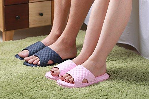 NEOKER Unisex-Erwachsene Sandalen Slipper Badeschuhe Low-Top Pink