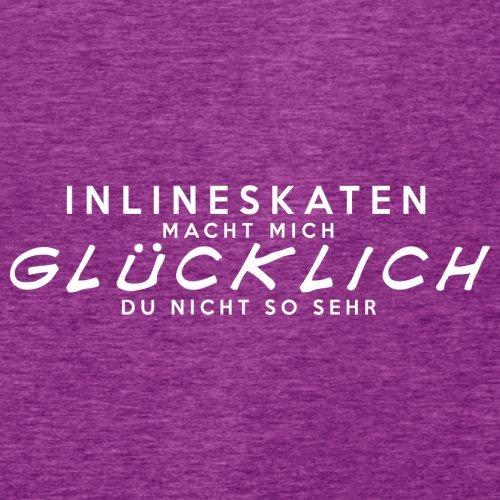 Inlineskaten macht mich glücklich - Damen T-Shirt - 14 Farben Beere