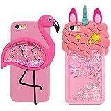 2x Coque pour iPhone 5S / 5, iPhone SE, Etui Mignon Bling Sables Mouvants Silicone...
