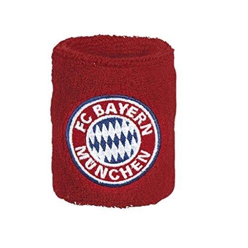Schweißband 2er Set + gratis Sticker, FC Bayern München FCB sweatband / bandeau / badana