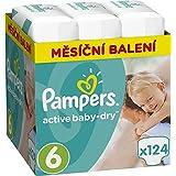 Pampers - Aktiv-Baby-Windel 6 Extra Large (15+ kg) Monatspackung - 124 Stück