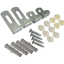 Spiegel- Clip Set Einstellbare 4-Satz mit Befestigungsmaterial und Anweisungen (1 Set von 4)